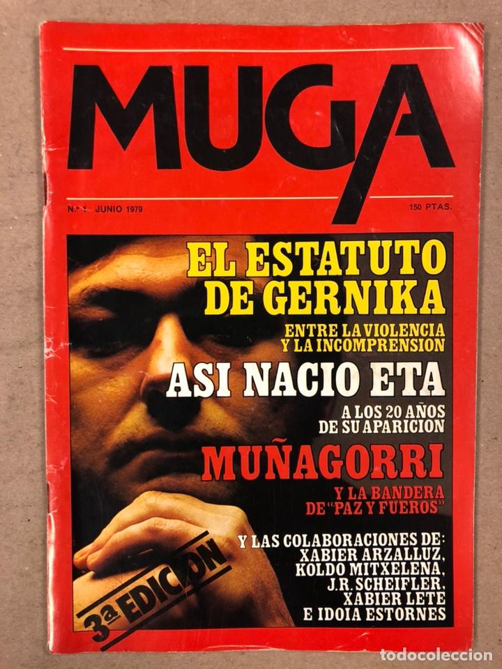Coleccionismo de Revistas y Periódicos: MUGA. LOTE CON LOS 12 PRIMEROS NÚMEROS DE LA REVISTA POLÍTICA VASCA (1979 - 1980). - Foto 2 - 196768235