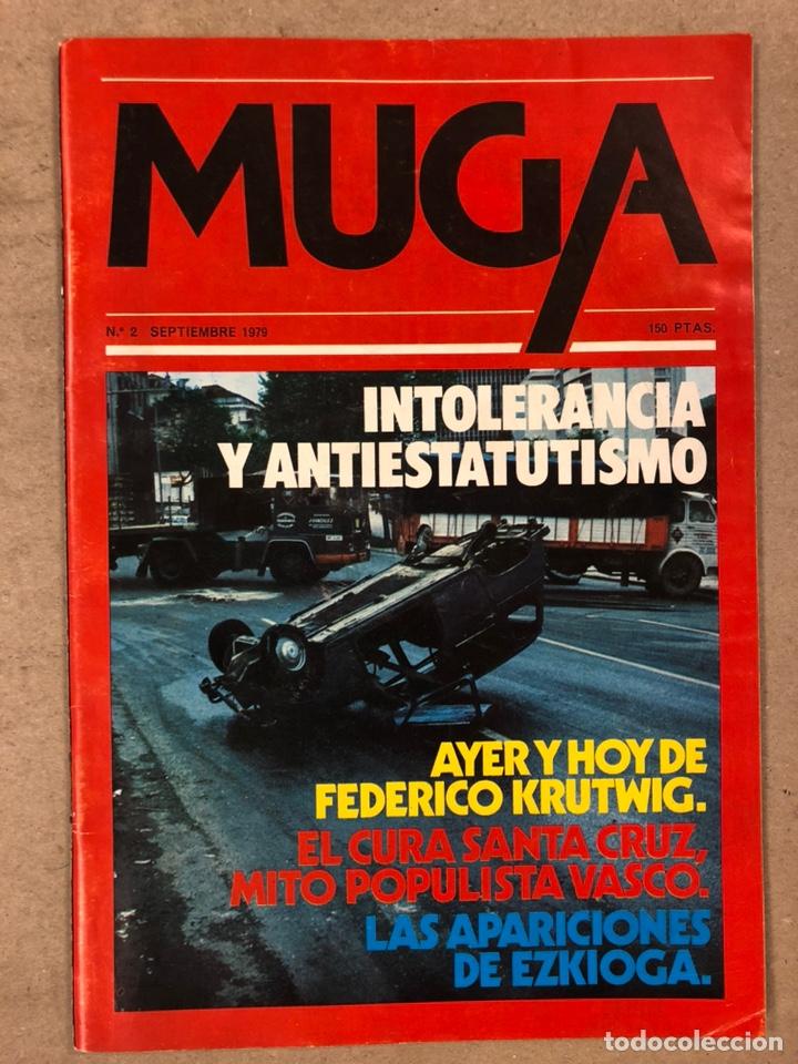 Coleccionismo de Revistas y Periódicos: MUGA. LOTE CON LOS 12 PRIMEROS NÚMEROS DE LA REVISTA POLÍTICA VASCA (1979 - 1980). - Foto 3 - 196768235