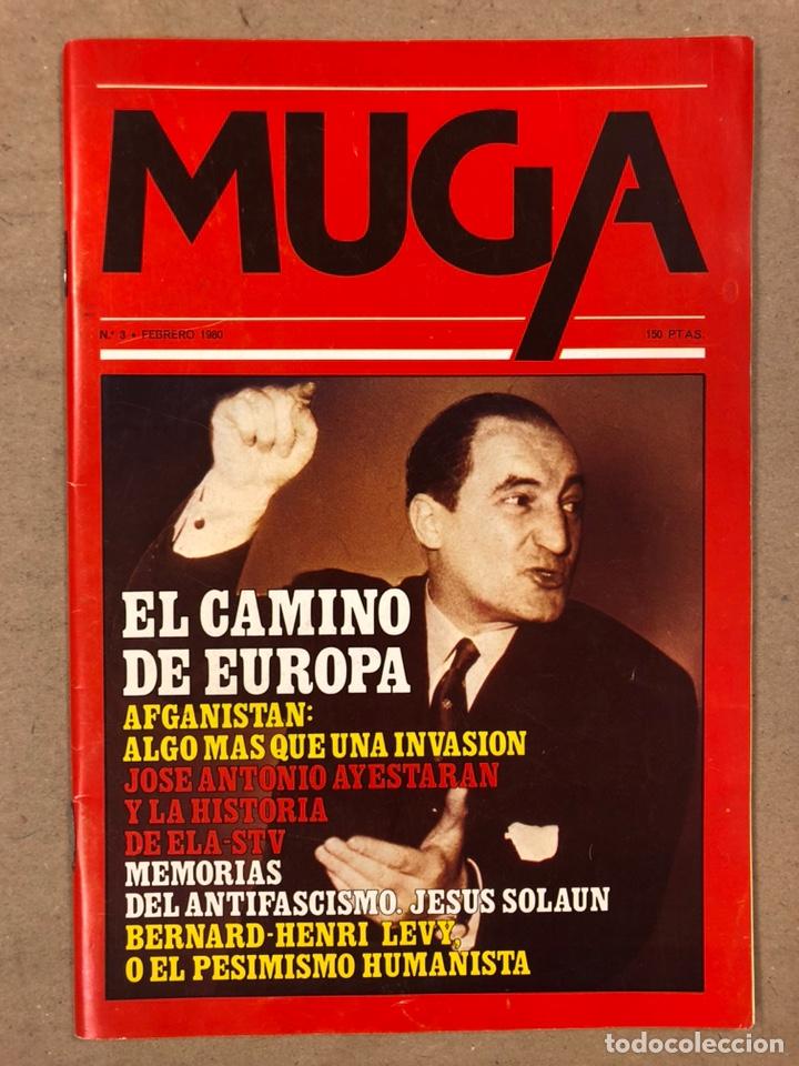 Coleccionismo de Revistas y Periódicos: MUGA. LOTE CON LOS 12 PRIMEROS NÚMEROS DE LA REVISTA POLÍTICA VASCA (1979 - 1980). - Foto 4 - 196768235
