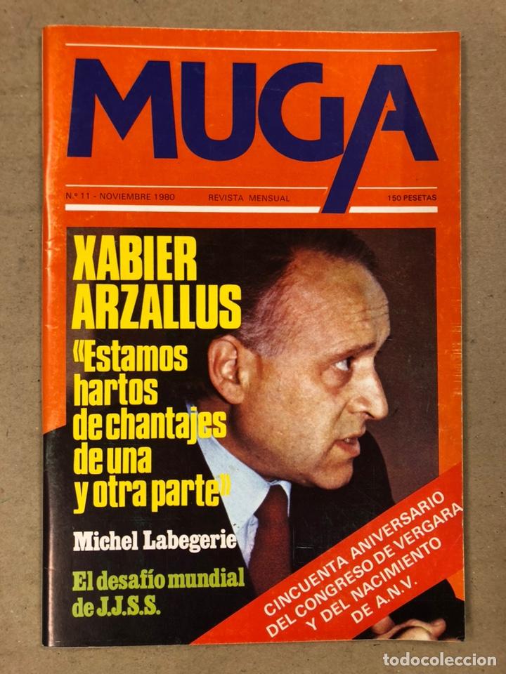 Coleccionismo de Revistas y Periódicos: MUGA. LOTE CON LOS 12 PRIMEROS NÚMEROS DE LA REVISTA POLÍTICA VASCA (1979 - 1980). - Foto 13 - 196768235