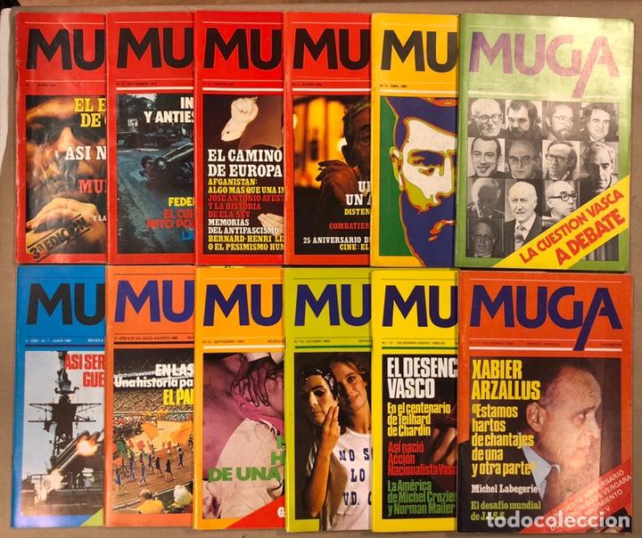 MUGA. LOTE CON LOS 12 PRIMEROS NÚMEROS DE LA REVISTA POLÍTICA VASCA (1979 - 1980). (Coleccionismo - Revistas y Periódicos Modernos (a partir de 1.940) - Otros)
