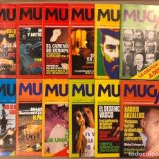 Coleccionismo de Revistas y Periódicos: MUGA. LOTE CON LOS 12 PRIMEROS NÚMEROS DE LA REVISTA POLÍTICA VASCA (1979 - 1980).. Lote 196768235