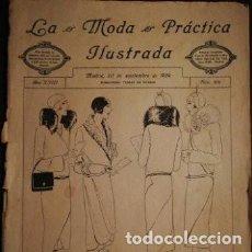 Coleccionismo de Revistas y Periódicos: REVISTA LA MODA PRÁCTICA ILUSTRADA 20 DE SEPTIEMBRE DE 1929 - N°876. Lote 196779061