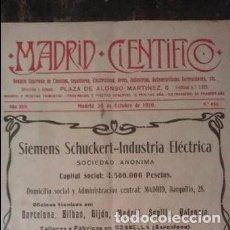 Coleccionismo de Revistas y Periódicos: REVISTA MADRID CIENTÍFICO N° 683 - 30 DE OCTUBRE DE 1910. Lote 196782172