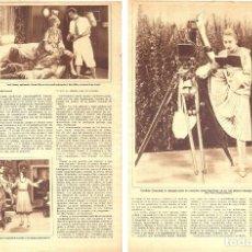 Coleccionismo de Revistas y Periódicos: 1928 HOJAS REVISTA ARTISTAS CINE MUDO JACK CONWAY, CARMEL MYERS JOAN CRAWFORD, CHARLOTTE GREENWOD.... Lote 196900700
