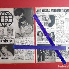 Coleccionismo de Revistas y Periódicos: JULIO IGLESIAS PADRE ENRIQUE MIGUEL- ENTREVISTA - RECORTE 2 PAG - REVISTA LECTURAS AÑO 1975. Lote 196967383