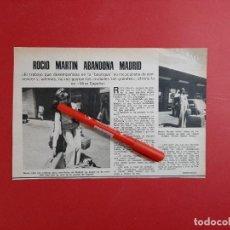 Coleccionismo de Revistas y Periódicos: ROCIO MARTIN ABANDONA MADRID -EX MISS ESPAÑA - ENTREVISTA - RECORTE - REVISTA LECTURAS AÑO 1975. Lote 197035713