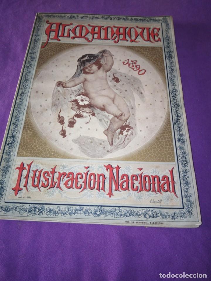 ALMANAQUE ILUSTRACION NACIONAL 1890 MODERNISMO EDUARDO PALACIO ADOLFO LLANOS RAMON DE CAMPOAMOR (Coleccionismo - Revistas y Periódicos Antiguos (hasta 1.939))