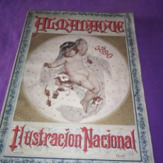 Coleccionismo de Revistas y Periódicos: ALMANAQUE ILUSTRACION NACIONAL 1890 MODERNISMO EDUARDO PALACIO ADOLFO LLANOS RAMON DE CAMPOAMOR . Lote 197183685