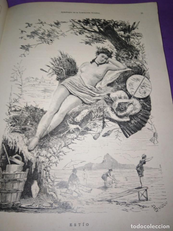 Coleccionismo de Revistas y Periódicos: ALMANAQUE ILUSTRACION NACIONAL 1890 MODERNISMO EDUARDO PALACIO ADOLFO LLANOS RAMON DE CAMPOAMOR - Foto 4 - 197183685