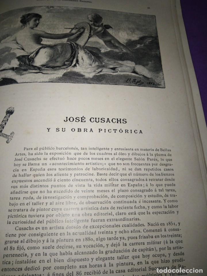 Coleccionismo de Revistas y Periódicos: ALMANAQUE ILUSTRACION NACIONAL 1890 MODERNISMO EDUARDO PALACIO ADOLFO LLANOS RAMON DE CAMPOAMOR - Foto 7 - 197183685