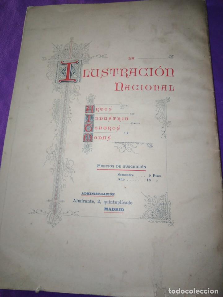 Coleccionismo de Revistas y Periódicos: ALMANAQUE ILUSTRACION NACIONAL 1890 MODERNISMO EDUARDO PALACIO ADOLFO LLANOS RAMON DE CAMPOAMOR - Foto 8 - 197183685