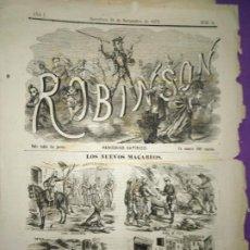 Coleccionismo de Revistas y Periódicos: ROBISON SATIRICO LOS NUEVOS MACABEOS CRITICA CARLISMO CURA SANTACRUZ FLIX ESOLET ALCABON. Lote 197297872