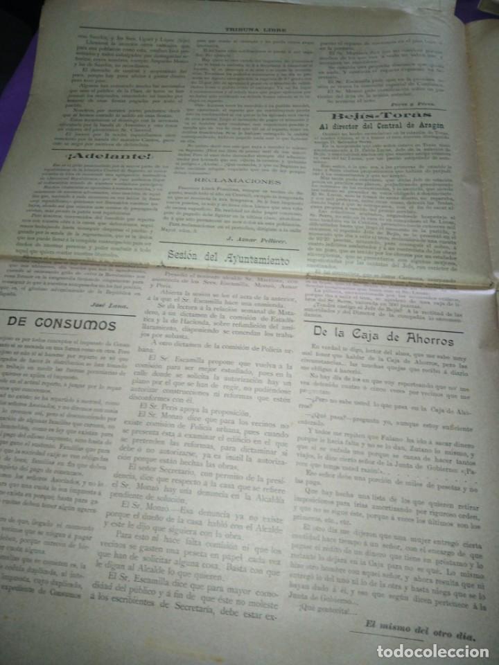 Coleccionismo de Revistas y Periódicos: TRIBUNA LIBRE SEMANARIO REPUBLICANO DE SAGUNTO 1907 J.AZANR PELLICER LAS FIESTAS DE SAGUNTO - Foto 3 - 197397911