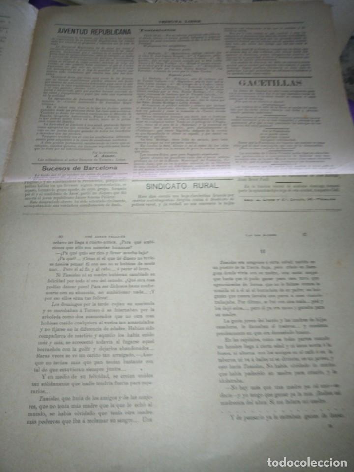 Coleccionismo de Revistas y Periódicos: TRIBUNA LIBRE SEMANARIO REPUBLICANO DE SAGUNTO 1907 J.AZANR PELLICER LAS FIESTAS DE SAGUNTO - Foto 4 - 197397911