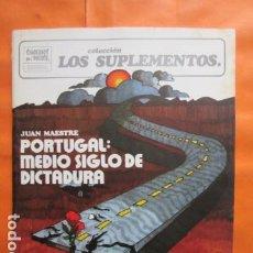 Coleccionismo de Revistas y Periódicos: CUADERNOS PARA EL DIALOGO Nº 49 LOS SUPLEMENTOS - JUAN MAESTRE PORTUGAL DICTADURA 1974. Lote 197416235