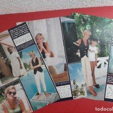 Coleccionismo de Revistas y Periódicos: MARION NIÑA 11 AÑOS CON DIANA GALES Y HIJOS ULTIMO VIAJE A BARBUDA- RECORTE REVISTA 8 PAG AÑO 1997. Lote 197416258