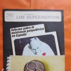 Coleccionismo de Revistas y Periódicos: CUADERNOS PARA EL DIALOGO Nº 55 LOS SUPLEMENTOS - ENRIQUE GONZALEZ DURO PSIQUIATRIA ESPAÑA 1974. Lote 197417028