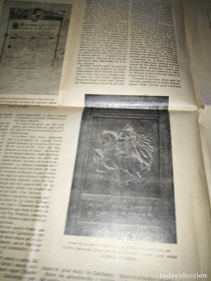 Coleccionismo de Revistas y Periódicos: EMPORDA FEDERAL 1921 HOMENATJE ENRIC MORERA - Foto 2 - 197432052