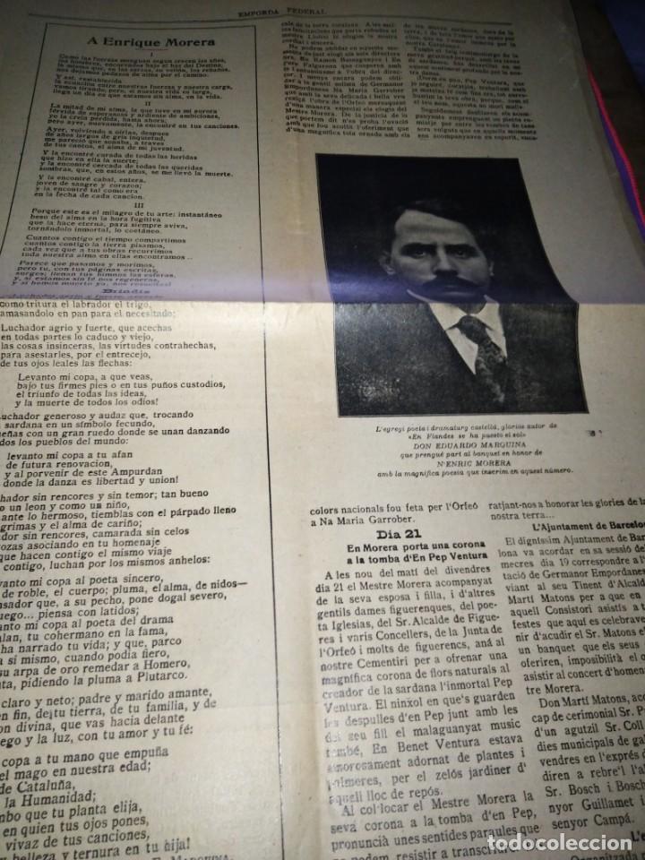 Coleccionismo de Revistas y Periódicos: EMPORDA FEDERAL 1921 HOMENATJE ENRIC MORERA - Foto 3 - 197432052