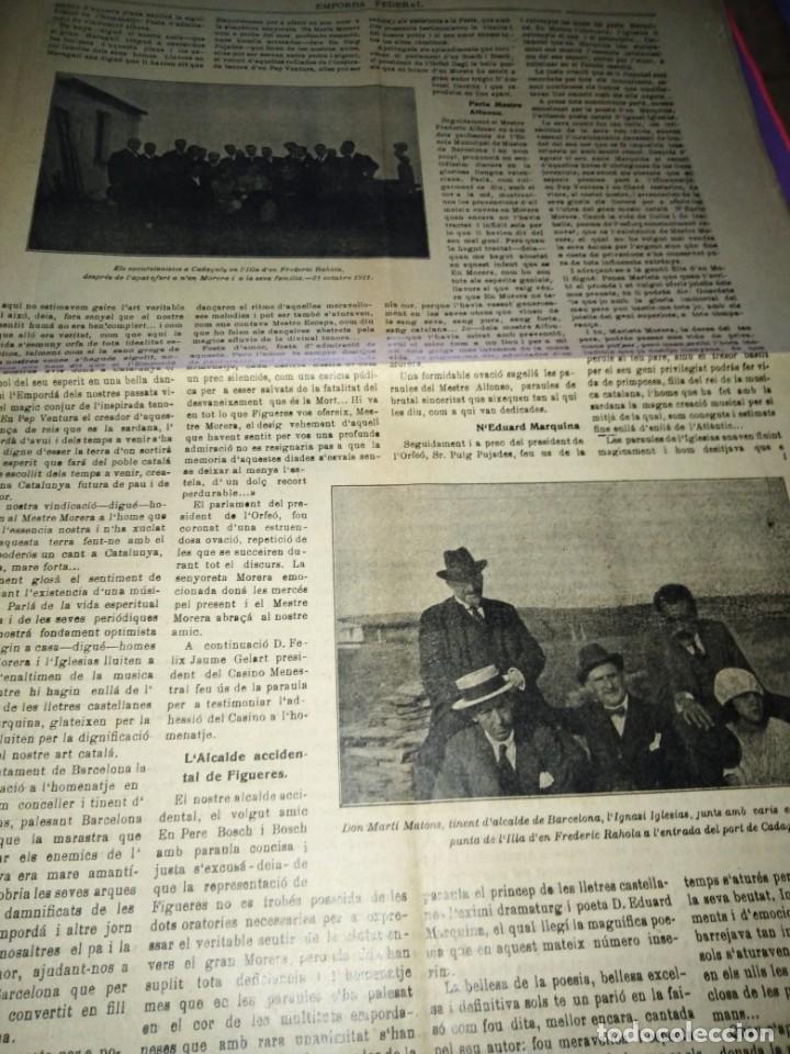 Coleccionismo de Revistas y Periódicos: EMPORDA FEDERAL 1921 HOMENATJE ENRIC MORERA - Foto 4 - 197432052