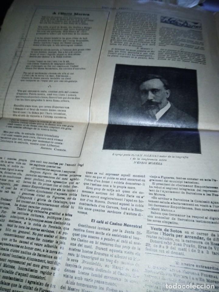 Coleccionismo de Revistas y Periódicos: EMPORDA FEDERAL 1921 HOMENATJE ENRIC MORERA - Foto 5 - 197432052