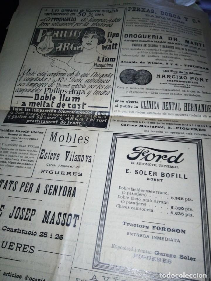 Coleccionismo de Revistas y Periódicos: EMPORDA FEDERAL 1921 HOMENATJE ENRIC MORERA - Foto 6 - 197432052