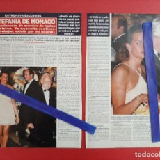 Coleccionismo de Revistas y Periódicos: CAROLINA DE MONACO Y RANIERO -RECORTE REVISTA 2 PAG AÑO 1997. Lote 197503652