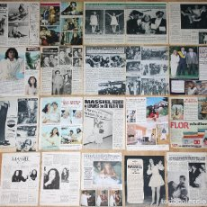 Coleccionismo de Revistas y Periódicos: MASSIEL COLECCIÓN PRENSA 1960S/80S CLIPPINGS FOTOS CANTANTE ESPAÑOLA EUROVISION 1968 REVISTA. Lote 115574903