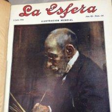 Coleccionismo de Revistas y Periódicos: REVISTA LA ESFERA 1916 2º SEMESTRE ENCUADERNADO DEL NÚMERO 131 AL 157 COMPLETO. Lote 197818197