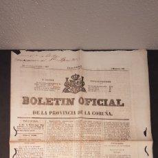 Coleccionismo de Revistas y Periódicos: BOLETÍN OFICIAL PROVINCIA DE LA CORUÑA. 4 DE ENERO DE 1867. DISOLUCIÓN DE LAS CORTES Y NUEVA CONVOCA. Lote 198213512