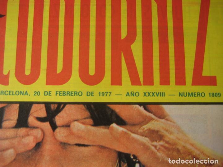 Coleccionismo de Revistas y Periódicos: REVISTA LA CODORNIZ Nº 1809 - 20 FEBRERO 1977 - PORTADA MUNOA - Foto 2 - 198282088