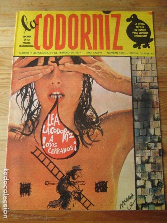 REVISTA LA CODORNIZ Nº 1809 - 20 FEBRERO 1977 - PORTADA MUNOA (Coleccionismo - Revistas y Periódicos Modernos (a partir de 1.940) - Otros)