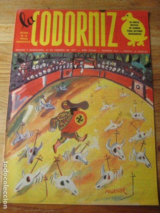 REVISTA LA CODORNIZ Nº 1810 - 27 FEBRERO 1977 - PORTADA MADRIGAL (Coleccionismo - Revistas y Periódicos Modernos (a partir de 1.940) - Otros)