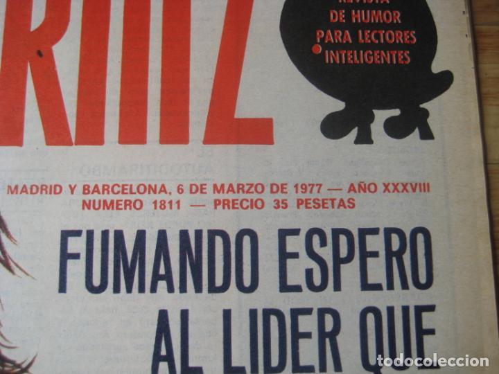 Coleccionismo de Revistas y Periódicos: REVISTA LA CODORNIZ Nº 1811 - 6 MARZO 1977 - PORTADA MAS - Foto 2 - 198282148