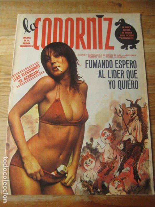 REVISTA LA CODORNIZ Nº 1811 - 6 MARZO 1977 - PORTADA MAS (Coleccionismo - Revistas y Periódicos Modernos (a partir de 1.940) - Otros)