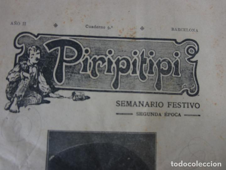 Coleccionismo de Revistas y Periódicos: Revista Erótica - Piripitipi - Semanario Festivo - Año II, nº 9 - Año 1904 - Foto 2 - 198283670