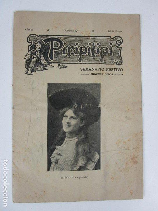 Coleccionismo de Revistas y Periódicos: Revista Erótica - Piripitipi - Semanario Festivo - Año II, nº 9 - Año 1904 - Foto 6 - 198283670