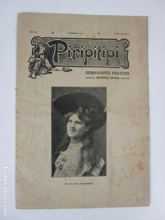 REVISTA ERÓTICA - PIRIPITIPI - SEMANARIO FESTIVO - AÑO II, Nº 9 - AÑO 1904 (Coleccionismo - Revistas y Periódicos Antiguos (hasta 1.939))
