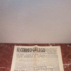 Coleccionismo de Revistas y Periódicos: EJEMPLAR ORIGINAL DEL DIARIO FERROLANO EL CORREO GALLEGO DEL SABADO 15 DE JULIO DE 1948. Lote 198309868
