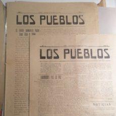 Coleccionismo de Revistas y Periódicos: ASPE DIARIO LOS PUEBLOS 1921 DOS NÚMEROS AÑO 1 NÚMERO 3 Y 5 RAROS. Lote 198395702