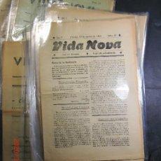Coleccionismo de Revistas y Periódicos: VIDA NOVA ,LOT DE 17 DIARIS-PINEDA ANY 1916. Lote 198605483