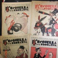 Coleccionismo de Revistas y Periódicos: LOT DE 5 EJEMPLARS-L´ESQUELLA DE LA TORRATXA ANY 33/34. Lote 198608041