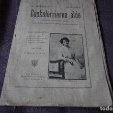 Coleccionismo de Revistas y Periódicos: EUSKALERRIAREN ALDE, Nº 93 (15 DE NOVIEMBRE DE 1914). Lote 198608243
