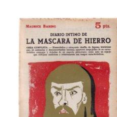 Coleccionismo de Revistas y Periódicos: MAURICE BARING - ....DE LA MASCARA DE HIERRO - REVISTA NOVELAS Y CUENTOS Nº 1631 / AGOSTO 1962. Lote 198626621