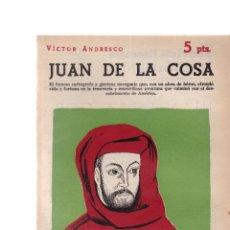 Coleccionismo de Revistas y Periódicos: JUAN DE LA COSA - VICTOR ANDRESCO - REVISTA NOVELAS Y CUENTOS Nº 1559 / MARZO 1961. Lote 198626996