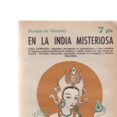 Coleccionismo de Revistas y Periódicos: EN LA INDIA MISTERIOSA - F. DE CROISSET - REVISTA NOVELAS Y CUENTOS Nº 1593 / NOVIEMBRE 1961. Lote 198627403