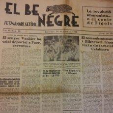 Coleccionismo de Revistas y Periódicos: EL BE NEGRE. ANY II NÚM 32. BARCELONA, GENER 1932. SETMANARI SATÍRIC.. Lote 198677015