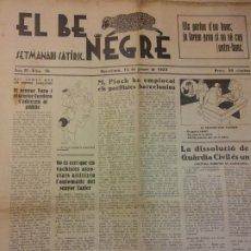 Coleccionismo de Revistas y Periódicos: EL BE NEGRE. ANY II NÚM 30. BARCELONA, GENER 1932. SETMANARI SATÍRIC.. Lote 198677088