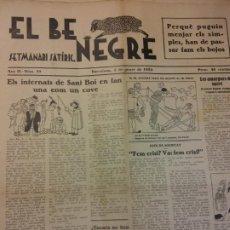 Coleccionismo de Revistas y Periódicos: EL BE NEGRE. ANY II NÚM 29. BARCELONA, GENER 1932. SETMANARI SATÍRIC.. Lote 198677106